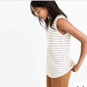 Madewell Striped Whisper Cotton Tank